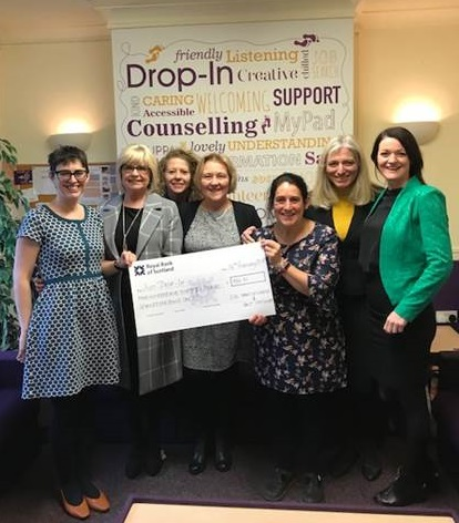 Harts Accountants Macclesfield present Just Drop in Cheque