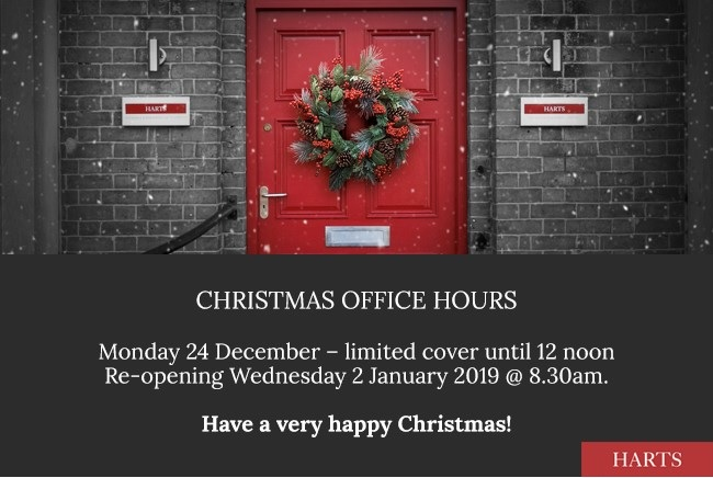 Harts Accountants Christmas 2019