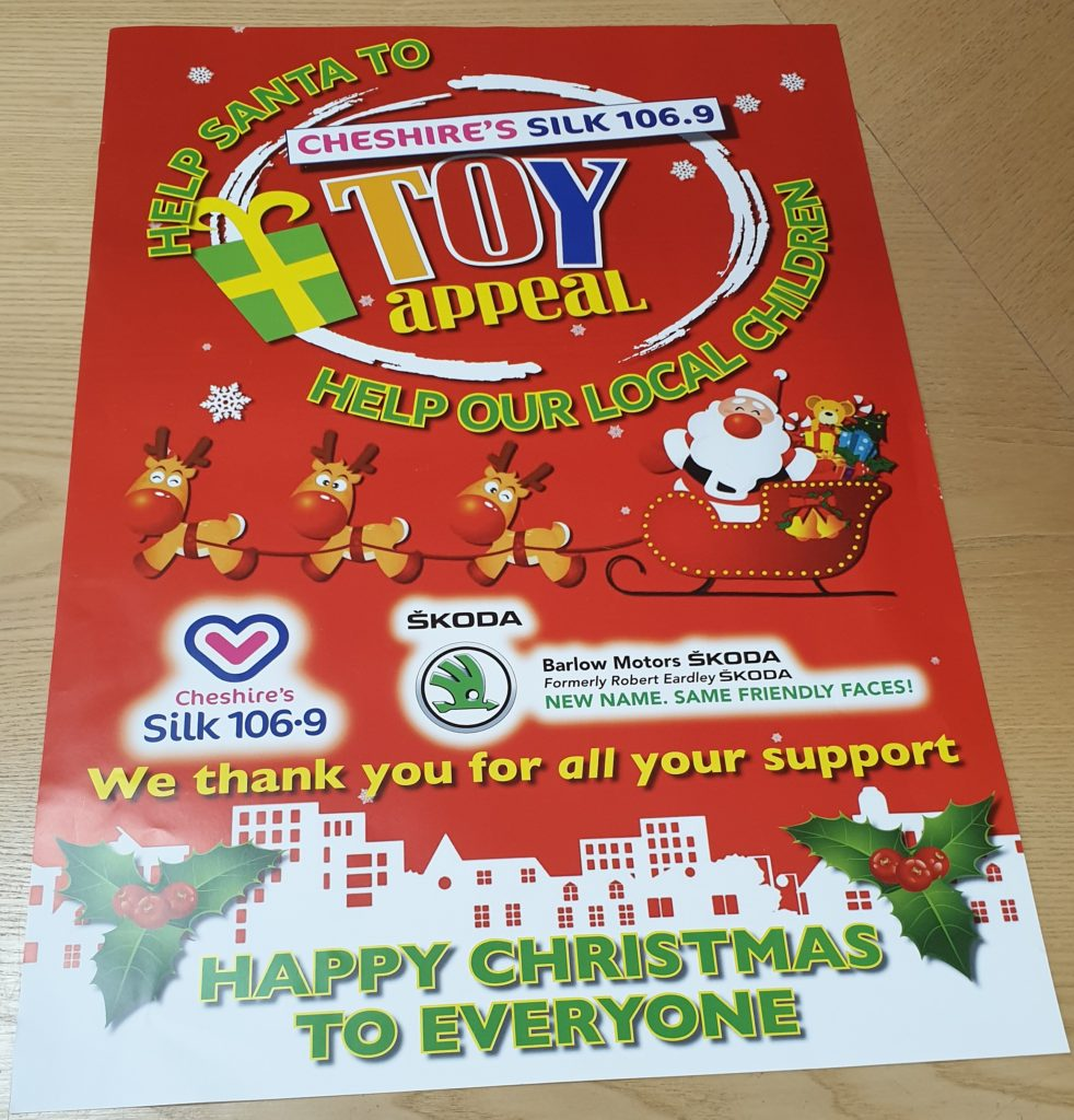 Cheshire Silk FM Christmas Toy Appeal 2019 - Harts Accountants