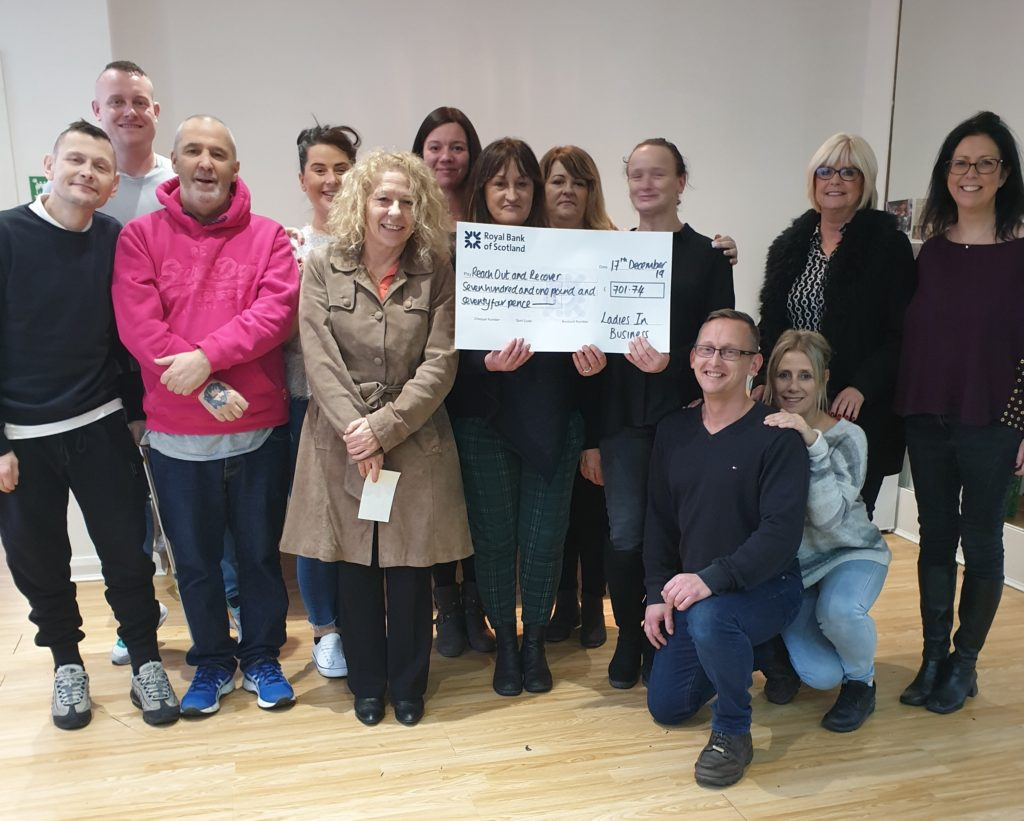 Ladies in Business present cheque to ROAR Macclesfield
